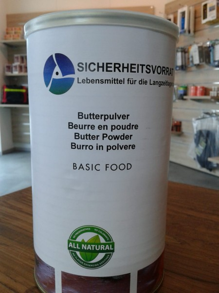 Butterpulver in Dosen