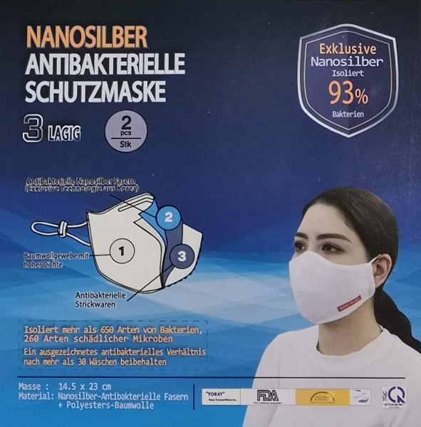 Nanosilber Schutzmasken | wiederverwendbar | 2 Stk.