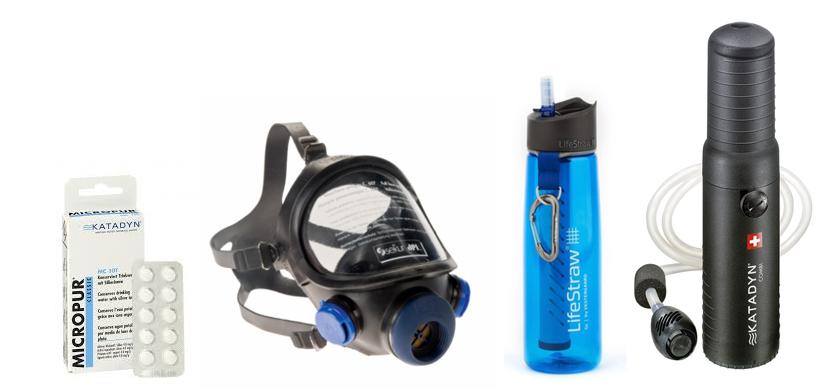 Wasserfilter und Atemschutz