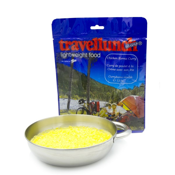 Huhn in Curryrahmsauce und Reis (2 Portionen)